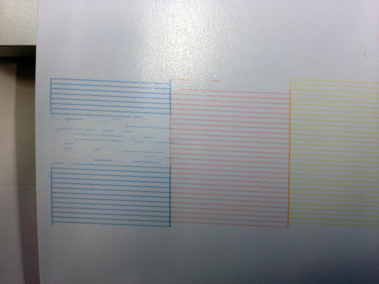 CYAN nozzle clog - Printer Maintenance & Cartridges